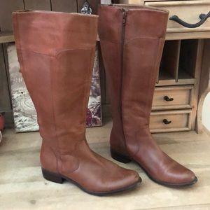 Corso Como Rena Tall Leather Riding Boots Brown